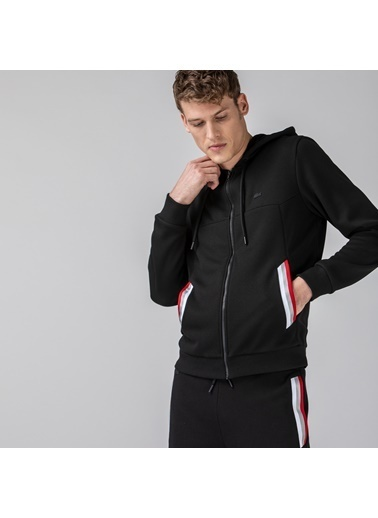 Lacoste Erkek Fermuarlı Sweatshirt SH0108.08S Siyah
